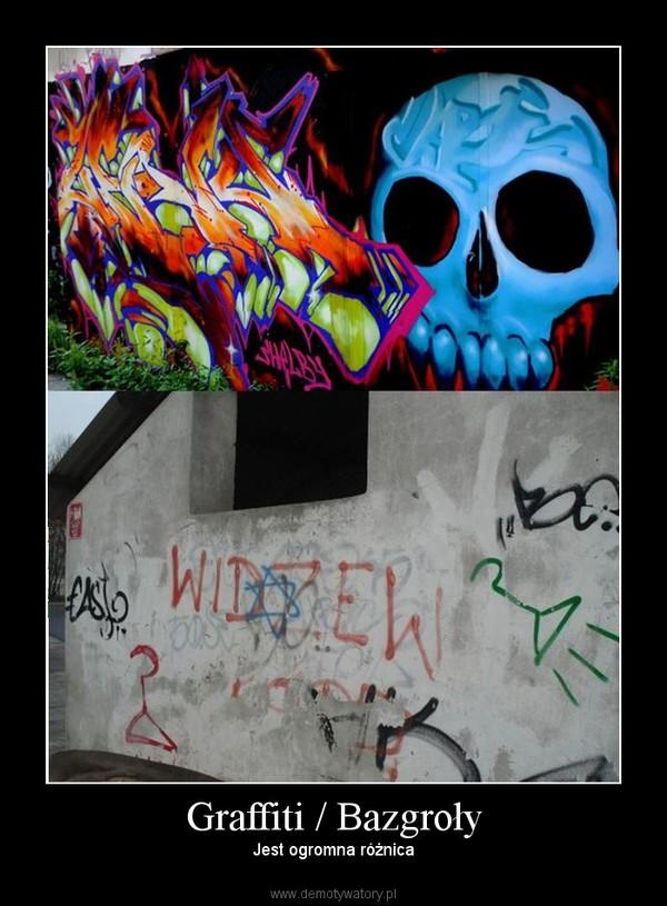 Graffiti / Bazgroły – Jest ogromna różnica