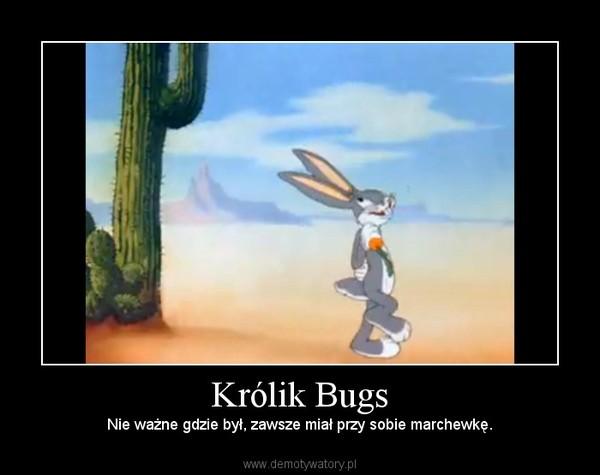 Królik Bugs – Nie ważne gdzie był, zawsze miał przy sobie marchewkę.