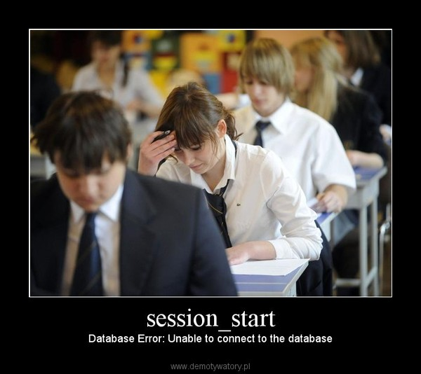 session_start – Database Error: Unable to connect to the database