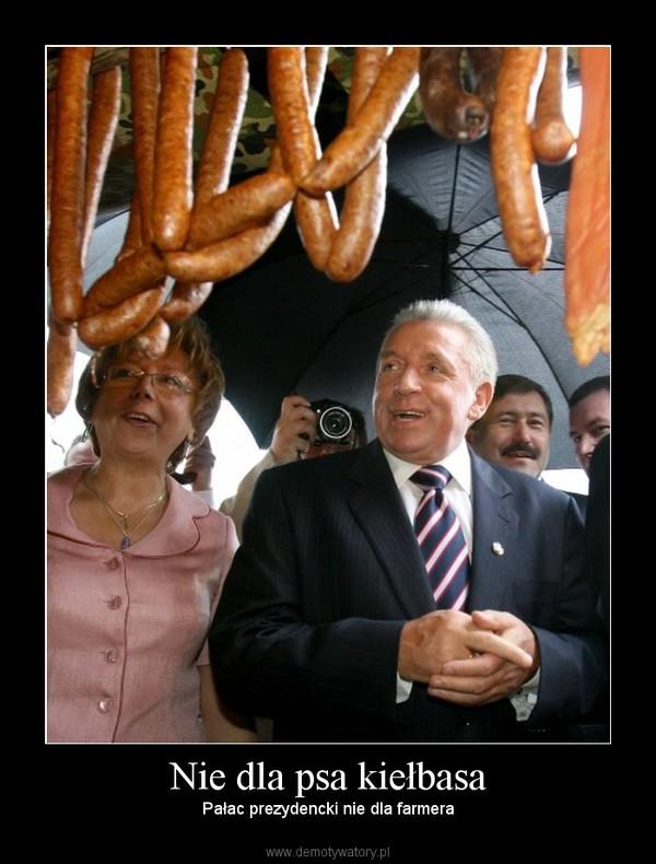 Nie dla psa kiełbasa – Pałac prezydencki nie dla farmera
