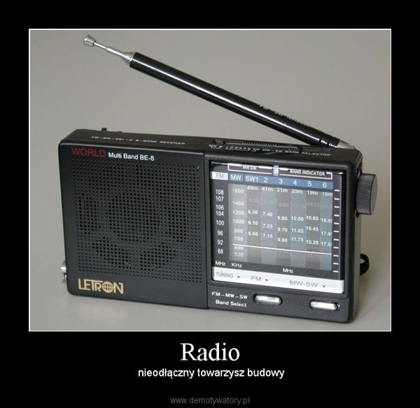 Radio –  nieodłączny towarzysz budowy