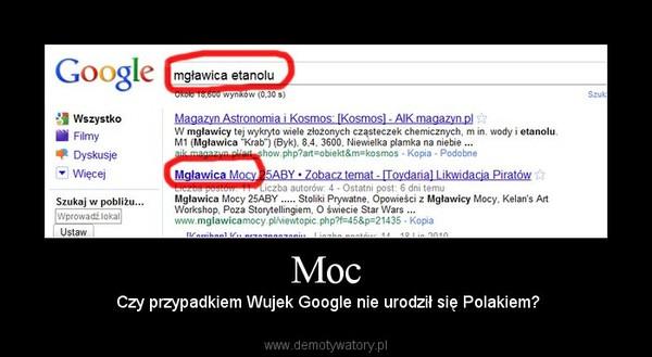 Moc –  Czy przypadkiem Wujek Google nie urodził się Polakiem?