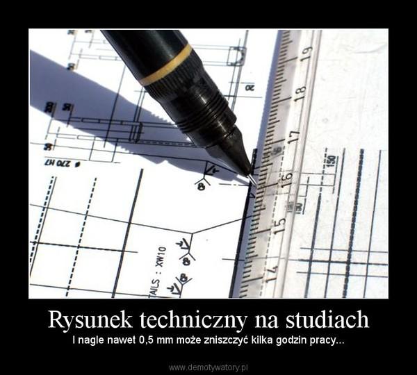 Rysunek techniczny na studiach – I nagle nawet 0,5 mm może zniszczyć kilka godzin pracy...