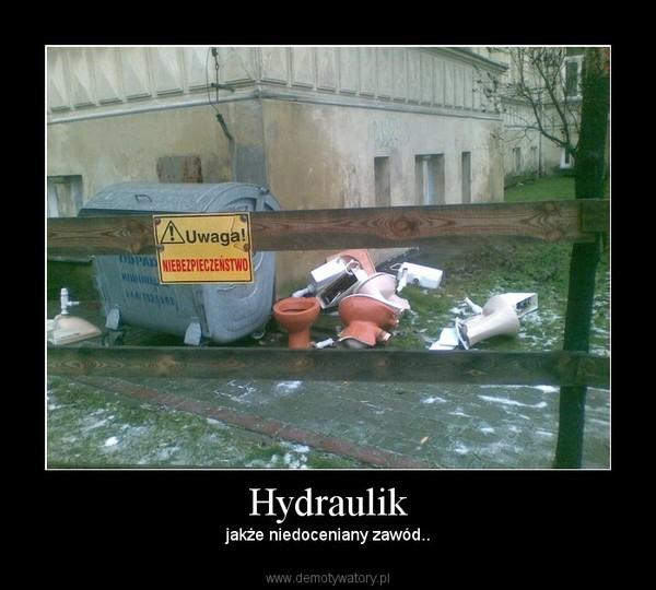 Hydraulik –  jakże niedoceniany zawód..
