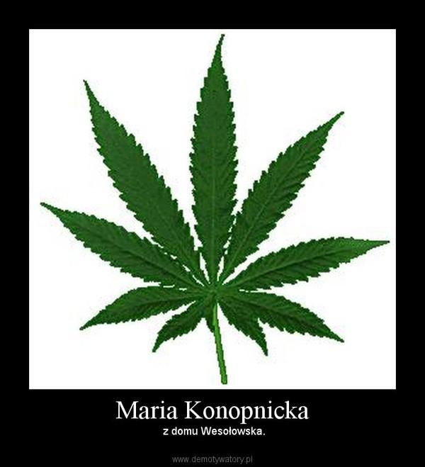 Maria Konopnicka – z domu Wesołowska.