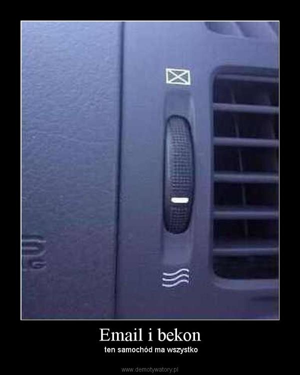 Email i bekon – ten samochód ma wszystko
