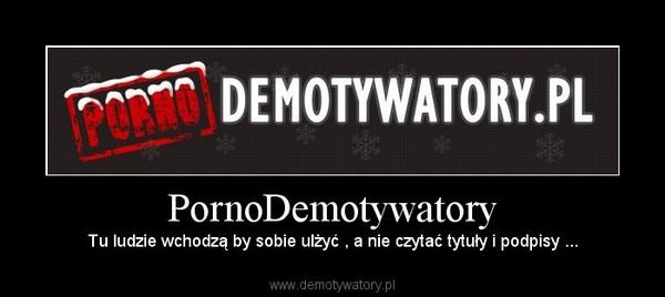 PornoDemotywatory – Tu ludzie wchodzą by sobie ulżyć , a nie czytać tytuły i podpisy ...