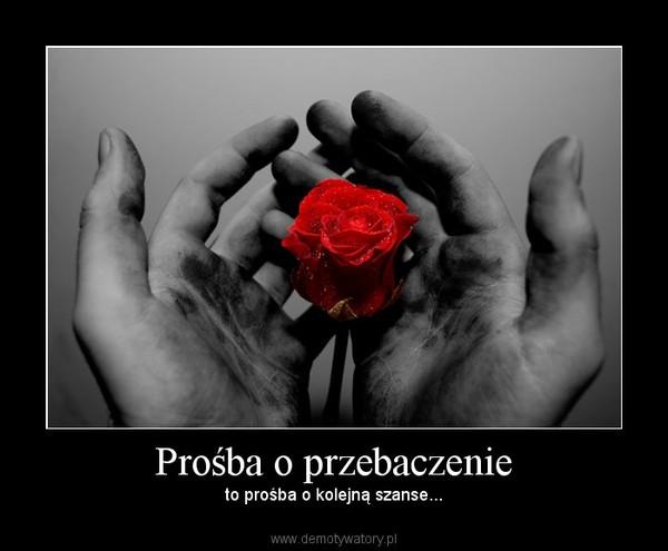 Prośba o przebaczenie – to prośba o kolejną szanse...