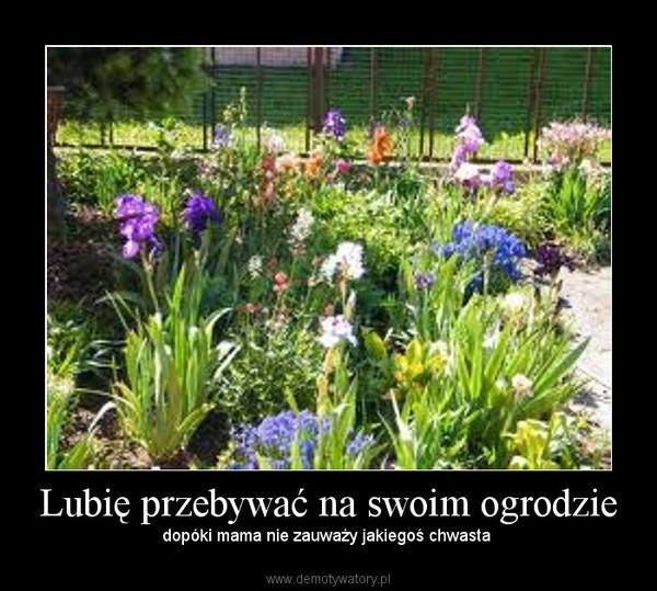 Lubię przebywać na swoim ogrodzie – dopóki mama nie zauważy jakiegoś chwasta