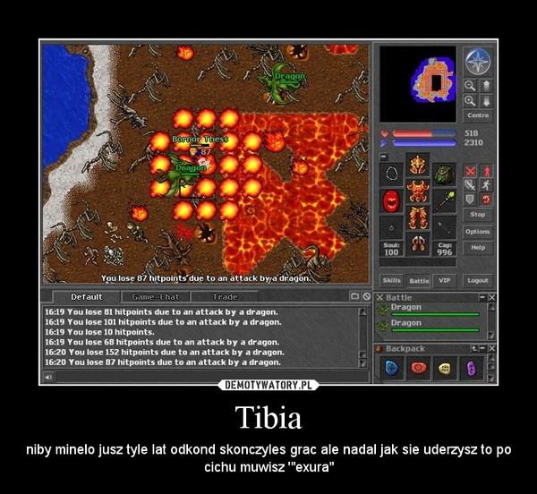 """Tibia – niby minelo jusz tyle lat odkond skonczyles grac ale nadal jak sie uderzysz to po cichu muwisz '""""exura"""""""
