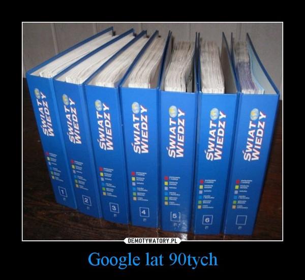 Google lat 90tych –