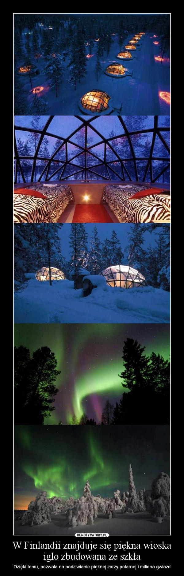 W Finlandii znajduje się piękna wioska iglo zbudowana ze szkła – Dzięki temu, pozwala na podziwianie pięknej zorzy polarnej i miliona gwiazd