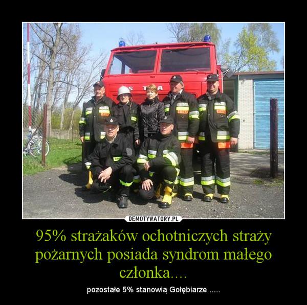 95% strażaków ochotniczych straży pożarnych posiada syndrom małego członka.... – pozostałe 5% stanowią Gołębiarze .....