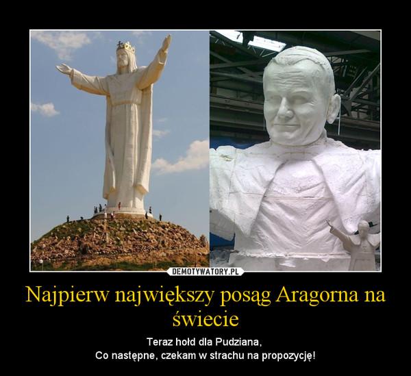 Najpierw największy posąg Aragorna na świecie – Teraz hołd dla Pudziana, Co następne, czekam w strachu na propozycję!