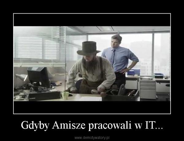 Gdyby Amisze pracowali w IT... –