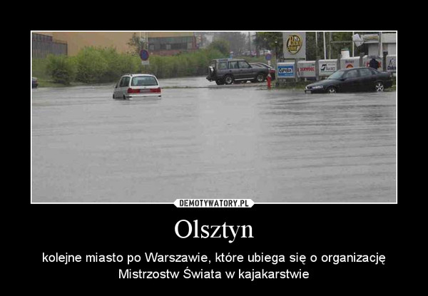 Olsztyn – kolejne miasto po Warszawie, które ubiega się o organizację Mistrzostw Świata w kajakarstwie