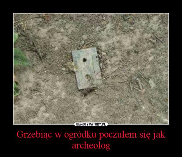 Grzebiąc w ogródku poczułem się jak archeolog –