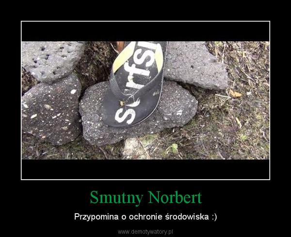 Smutny Norbert – Przypomina o ochronie środowiska :)