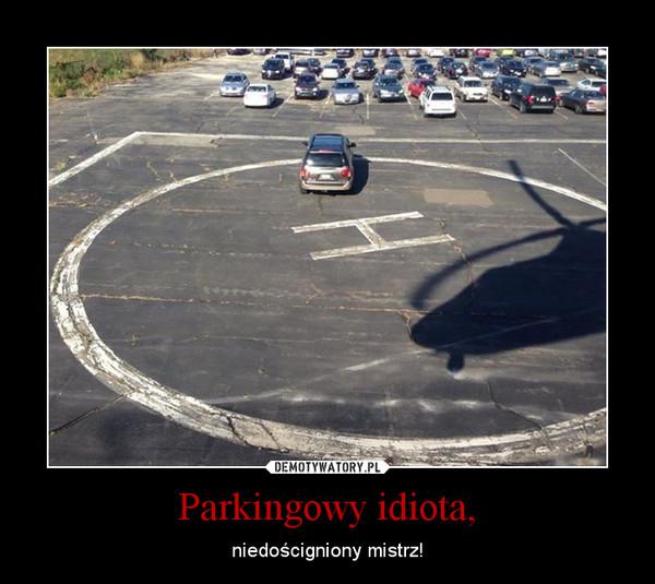Parkingowy idiota, – niedościgniony mistrz!