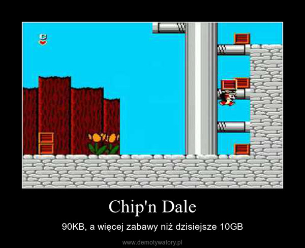 Chip'n Dale – 90KB, a więcej zabawy niż dzisiejsze 10GB