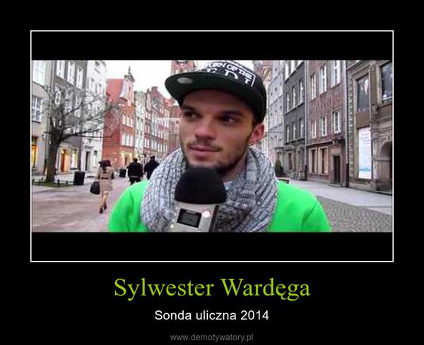 Sylwester Wardęga – Sonda uliczna 2014