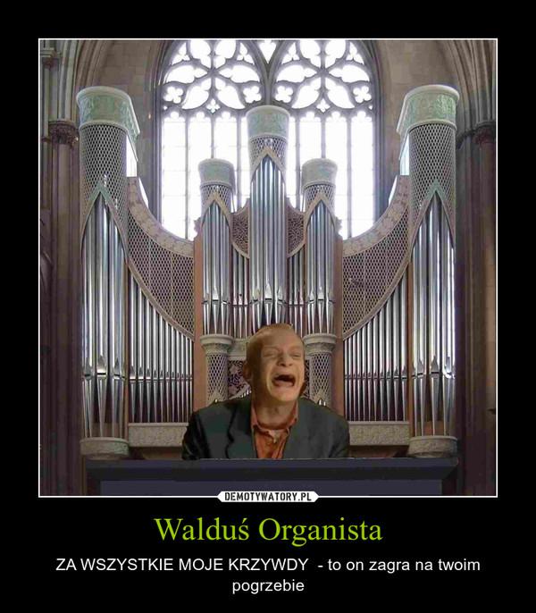 Walduś Organista – ZA WSZYSTKIE MOJE KRZYWDY  - to on zagra na twoim pogrzebie