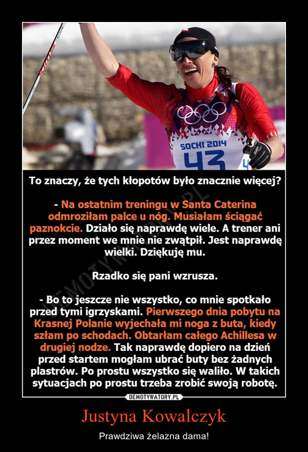 Justyna Kowalczyk – Prawdziwa żelazna dama!