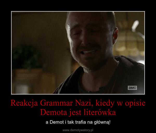 Reakcja Grammar Nazi, kiedy w opisie Demota jest literówka – a Demot i tak trafia na główną!