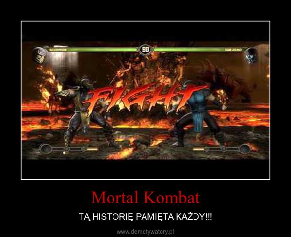 Mortal Kombat – TĄ HISTORIĘ PAMIĘTA KAŻDY!!!