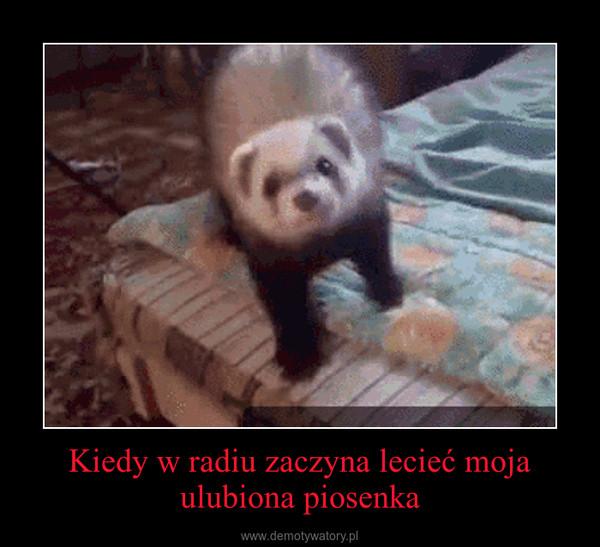 Kiedy w radiu zaczyna lecieć moja ulubiona piosenka –