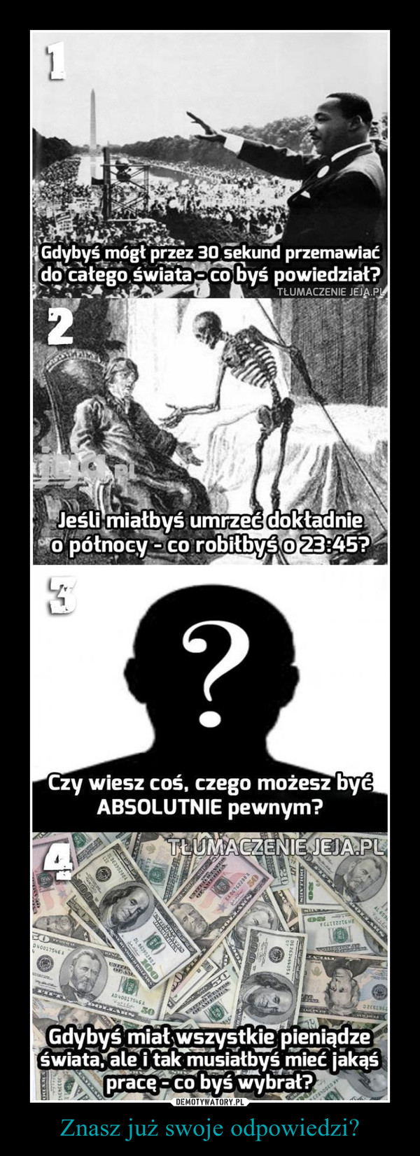 Znasz już swoje odpowiedzi? –