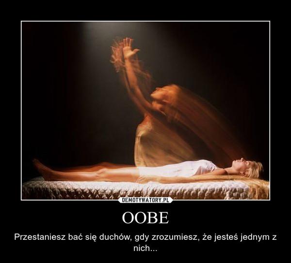 OOBE – Przestaniesz bać się duchów, gdy zrozumiesz, że jesteś jednym z nich...