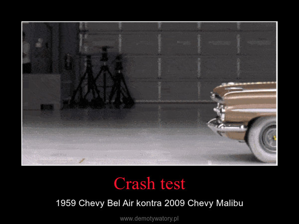 Crash test – 1959 Chevy Bel Air kontra 2009 Chevy Malibu