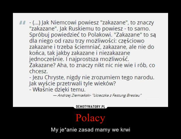 Polacy – My je*anie zasad mamy we krwi