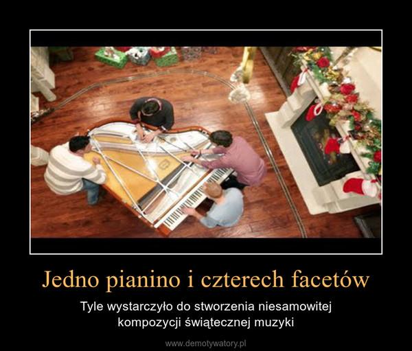 Jedno pianino i czterech facetów – Tyle wystarczyło do stworzenia niesamowitejkompozycji świątecznej muzyki