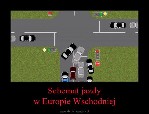Schemat jazdyw Europie Wschodniej –