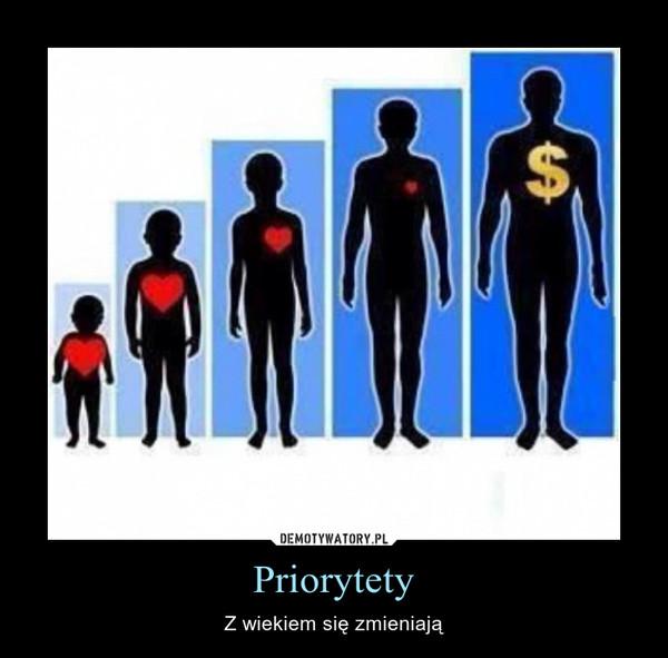 Priorytety – Z wiekiem się zmieniają