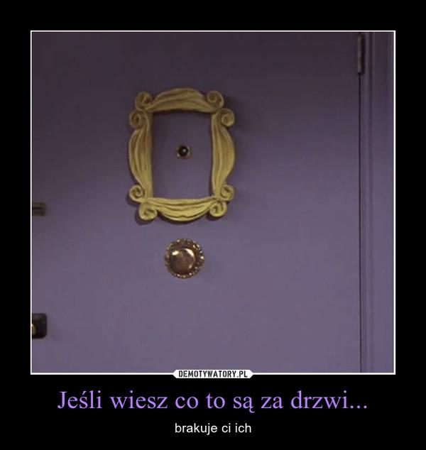 Jeśli wiesz co to są za drzwi... – brakuje ci ich