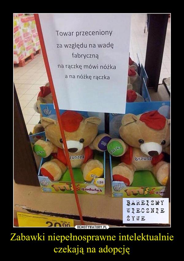 Zabawki niepełnosprawne intelektualnie czekają na adopcję –