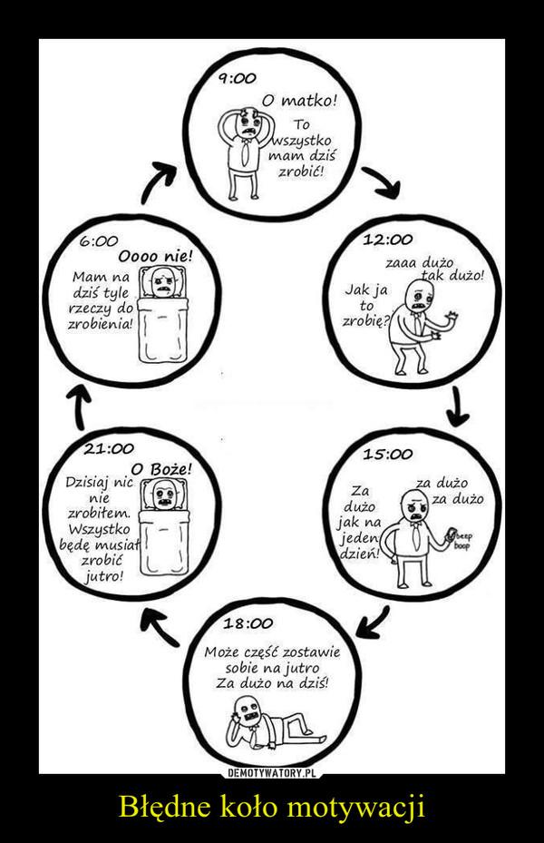 Błędne koło motywacji –