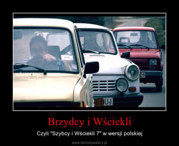 """Brzydcy i Wściekli – Czyli """"Szybcy i Wściekli 7"""" w wersji polskiej"""