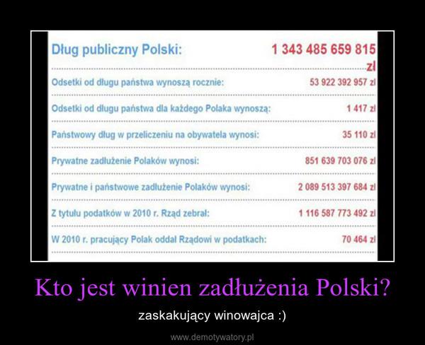 Kto jest winien zadłużenia Polski? – zaskakujący winowajca :)