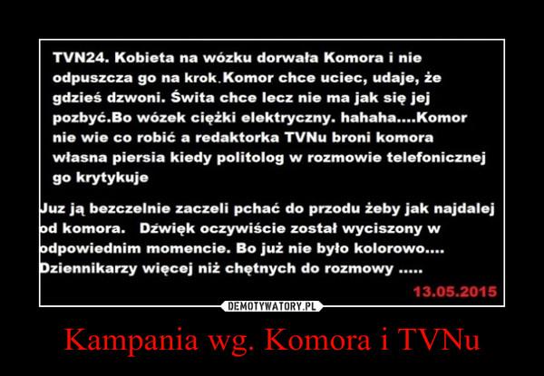 Kampania wg. Komora i TVNu –