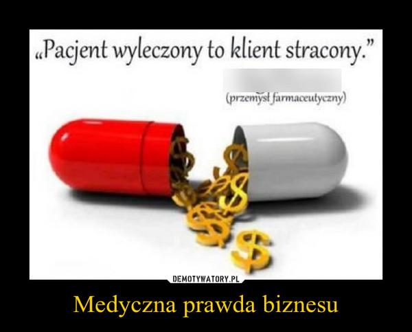 Medyczna prawda biznesu –