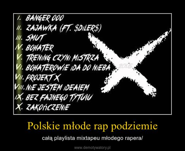 Polskie młode rap podziemie – całą playlista mixtapeu młodego rapera/