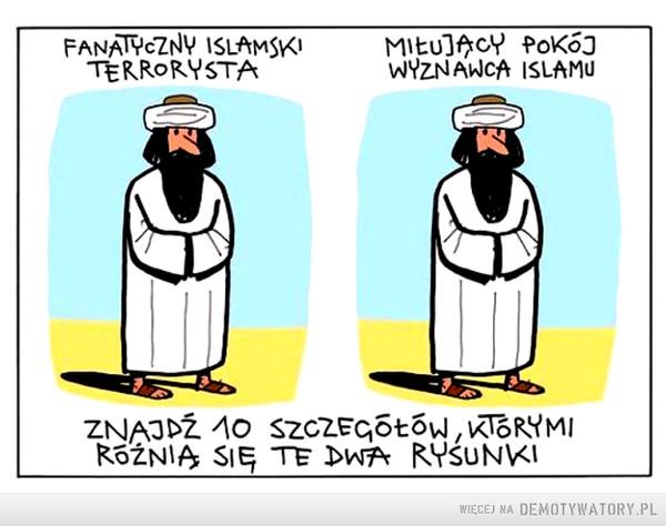 Znajdź różnicę między tymi muzułmanami –