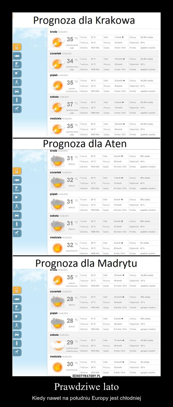 Prawdziwe lato – Kiedy nawet na południu Europy jest chłodniej