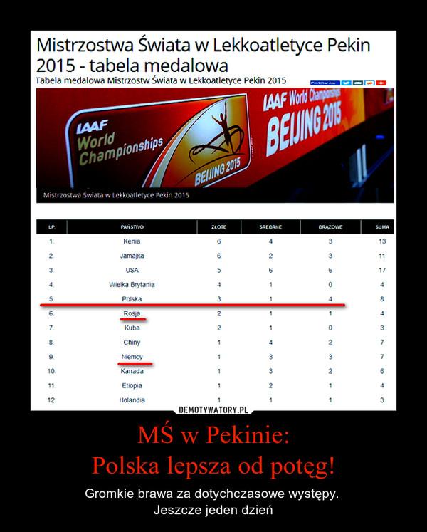 MŚ w Pekinie:Polska lepsza od potęg! – Gromkie brawa za dotychczasowe występy. Jeszcze jeden dzień