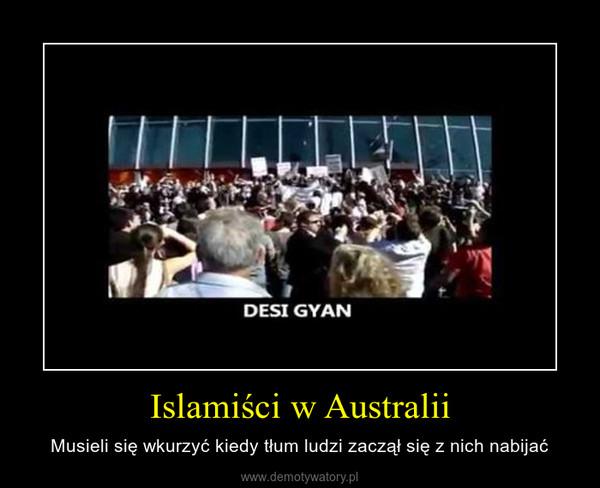 Islamiści w Australii – Musieli się wkurzyć kiedy tłum ludzi zaczął się z nich nabijać