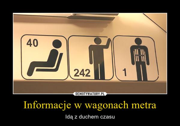 Informacje w wagonach metra – Idą z duchem czasu